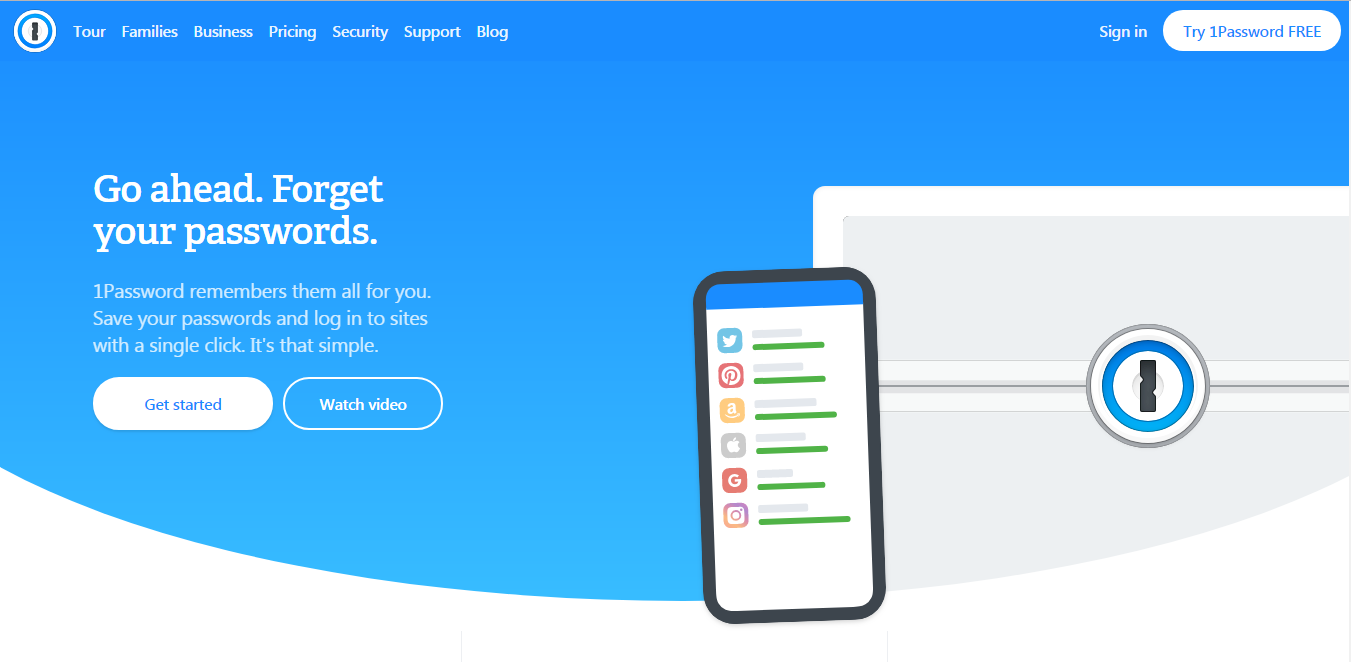 1password homepage