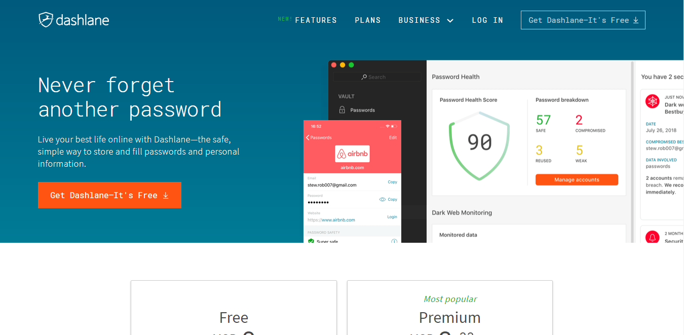 Dashlane - Login Lockdown
