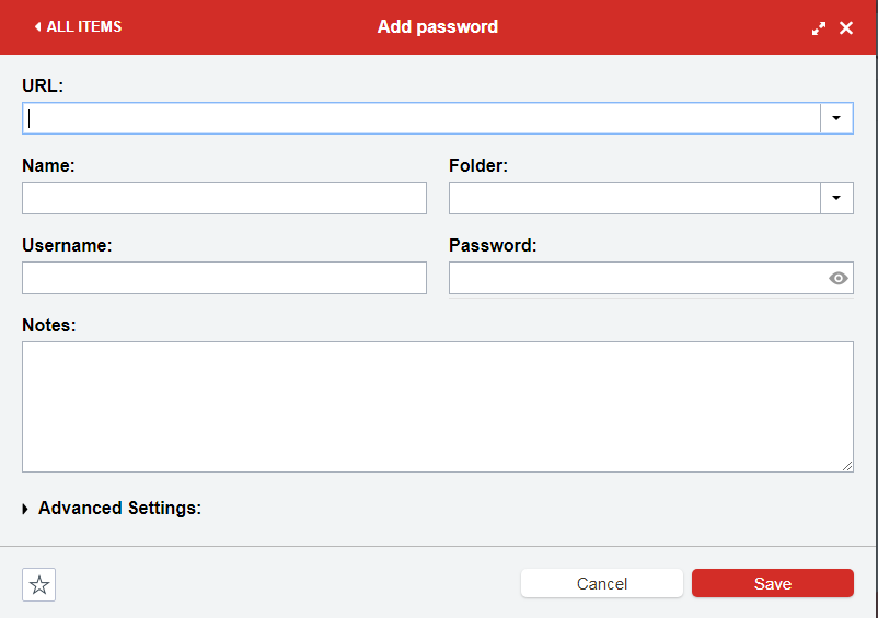 password field