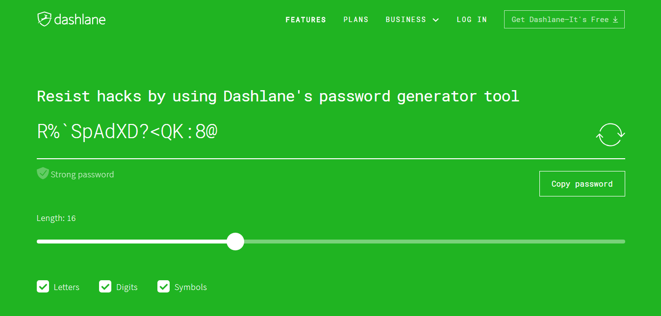 Dashlane Password Generator