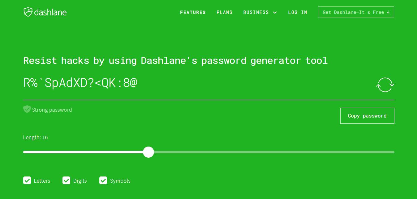 password gfenerator dashlanae
