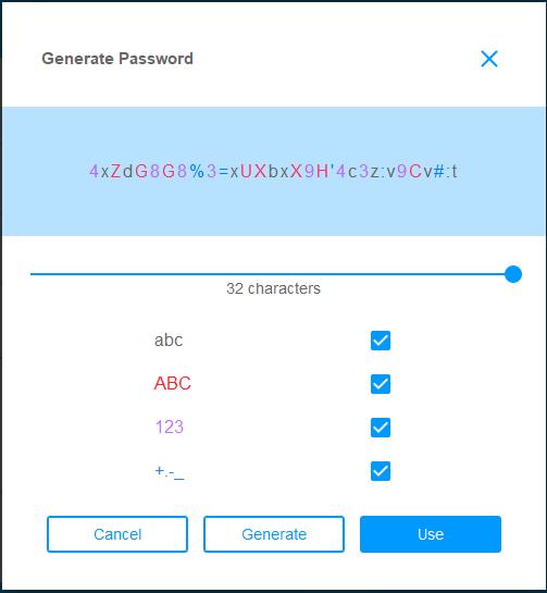 F secure password generator