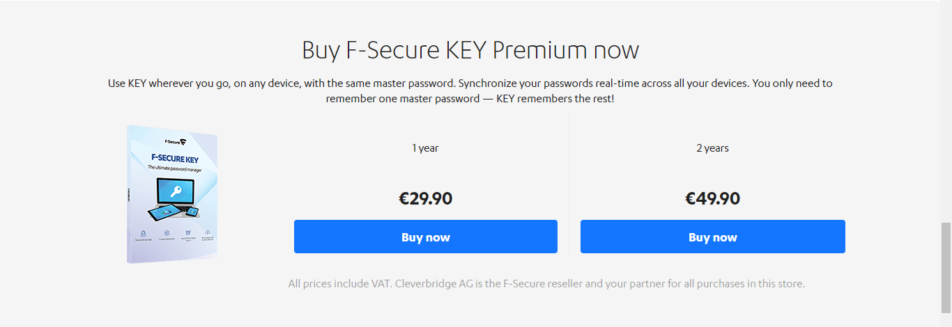 F secure pricing
