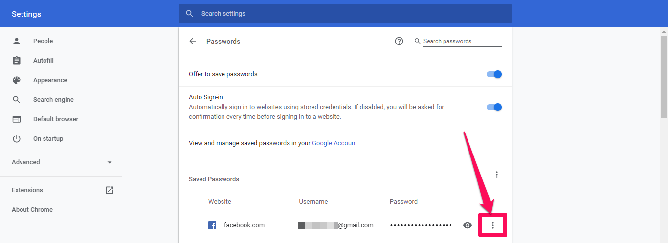 google chrome remove passwords