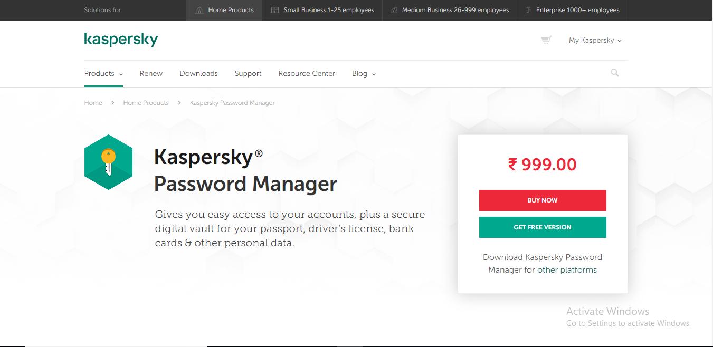 kasperskey homepage