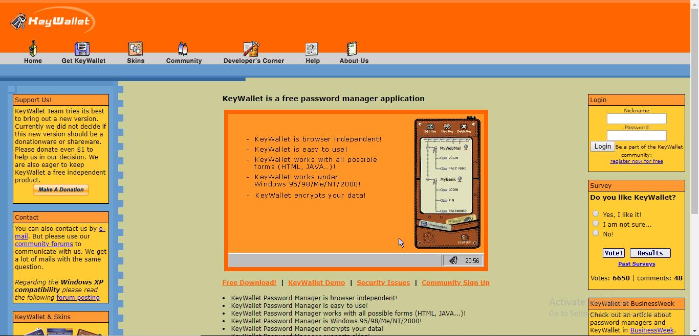 keywallet homepage