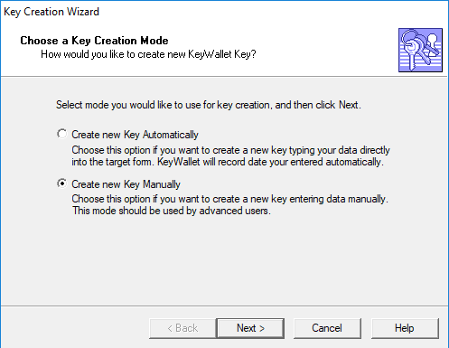 keywallet save password1
