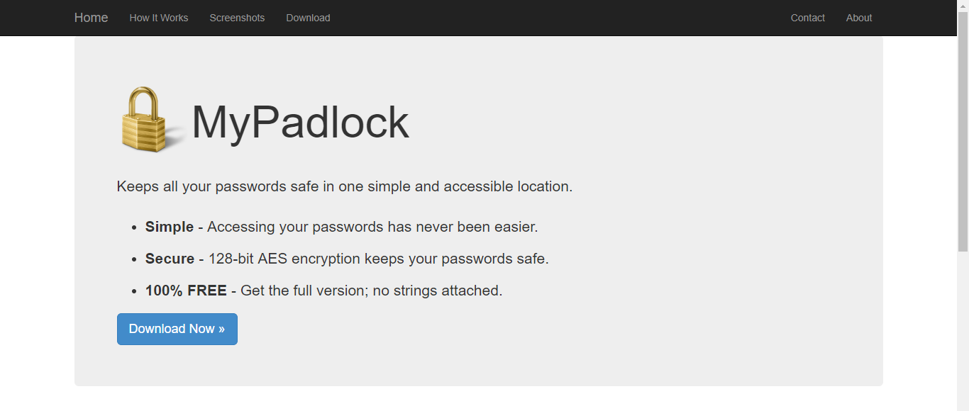 mypadlock homepage