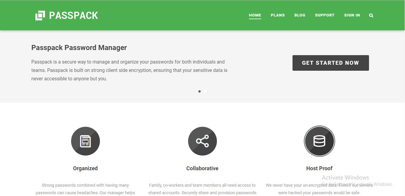 passpack homepage