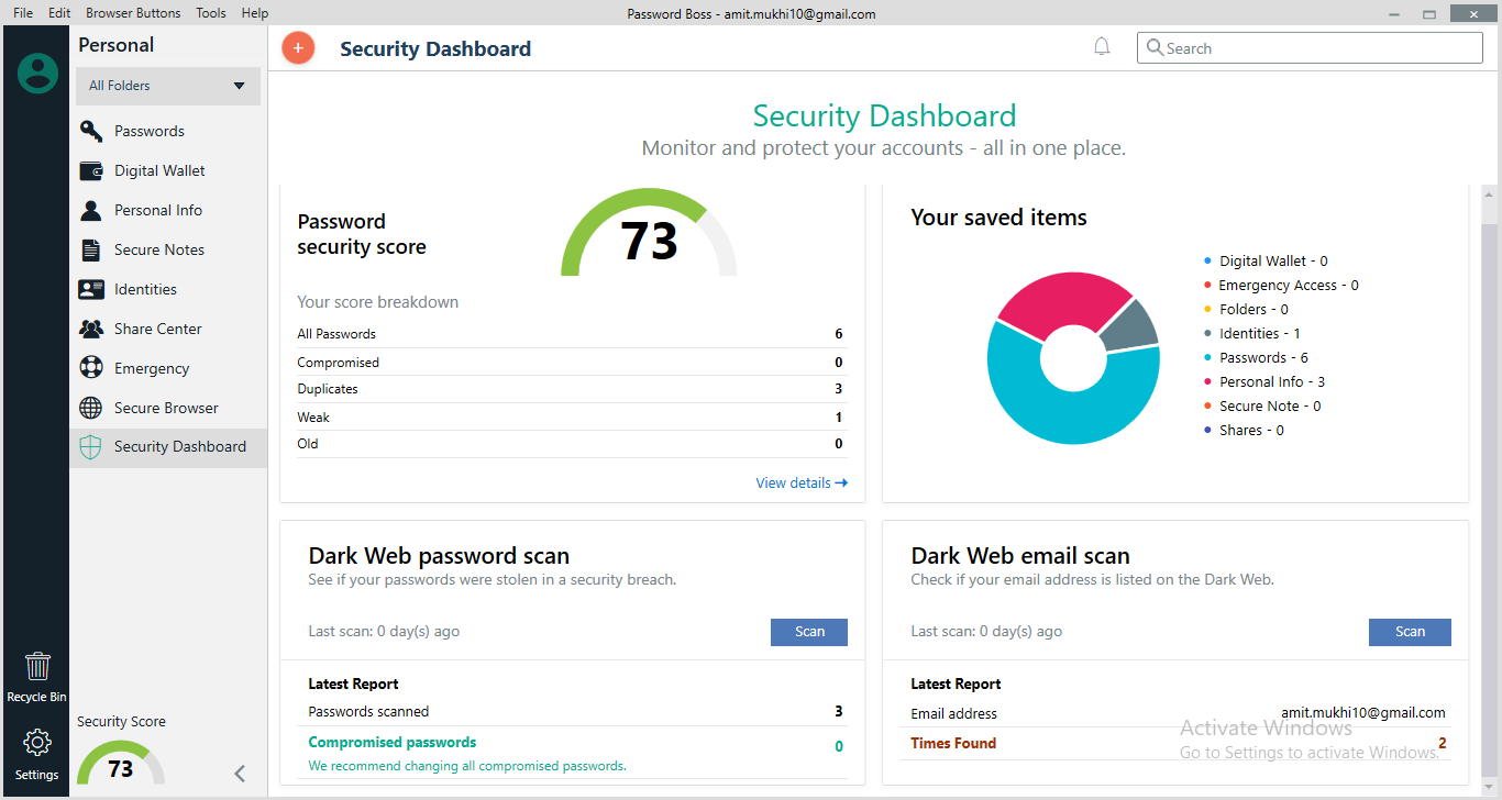 password boss security dashboard