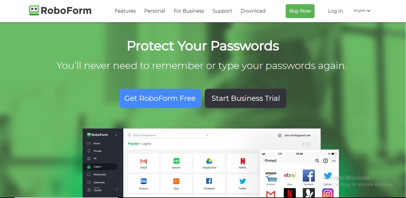 roboform homepage