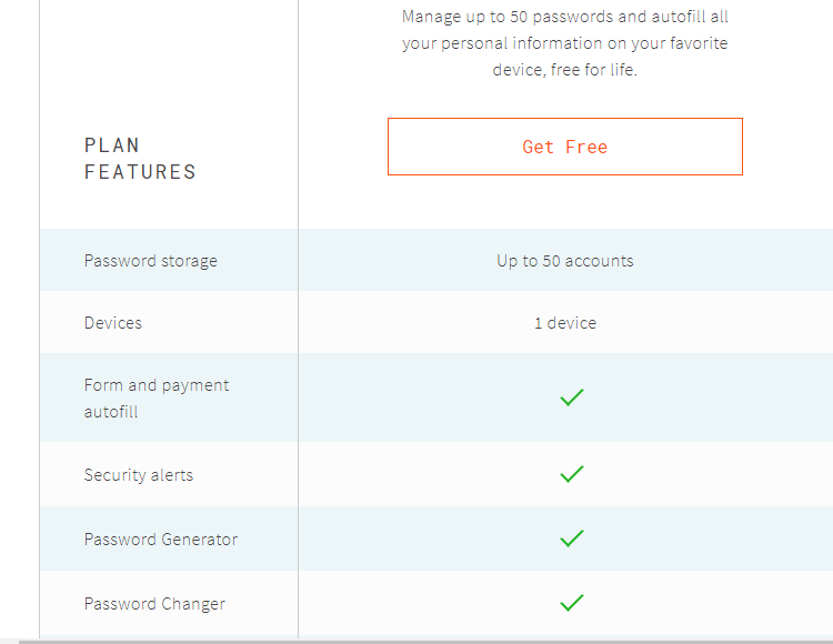 dashlane free account
