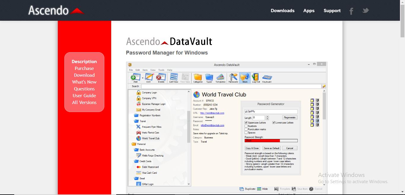 datavault homepage