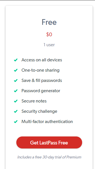 lastpass free account