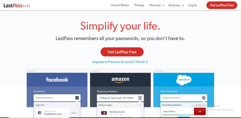 lastpass homepage