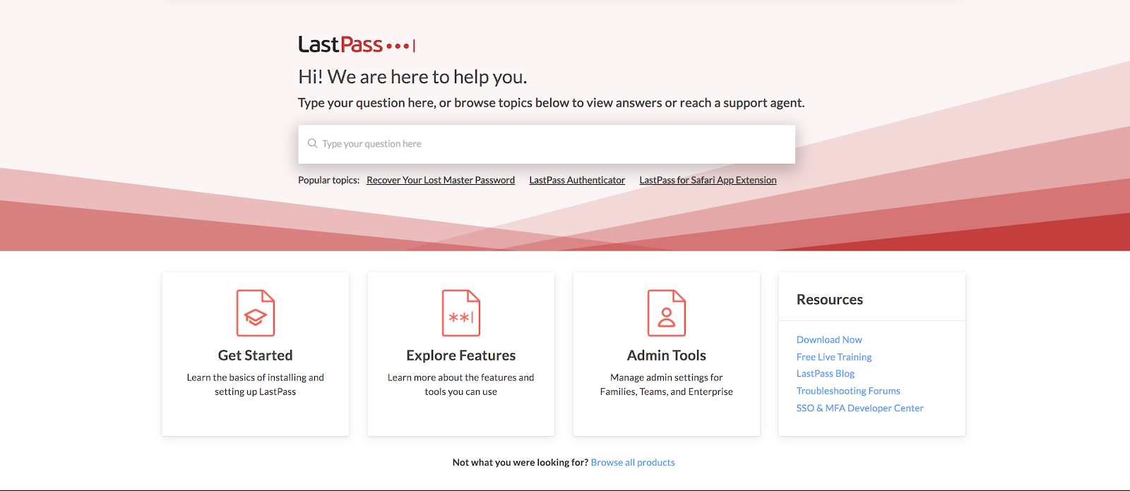 LastPass password manager knowledge base